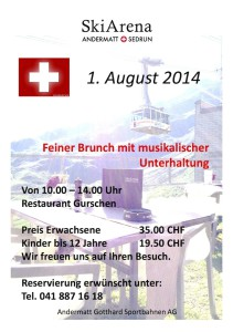 1. August Brunch Restaurant Gurschen @ 1. August Brunch Gurschen | Andermatt | Uri | Schweiz