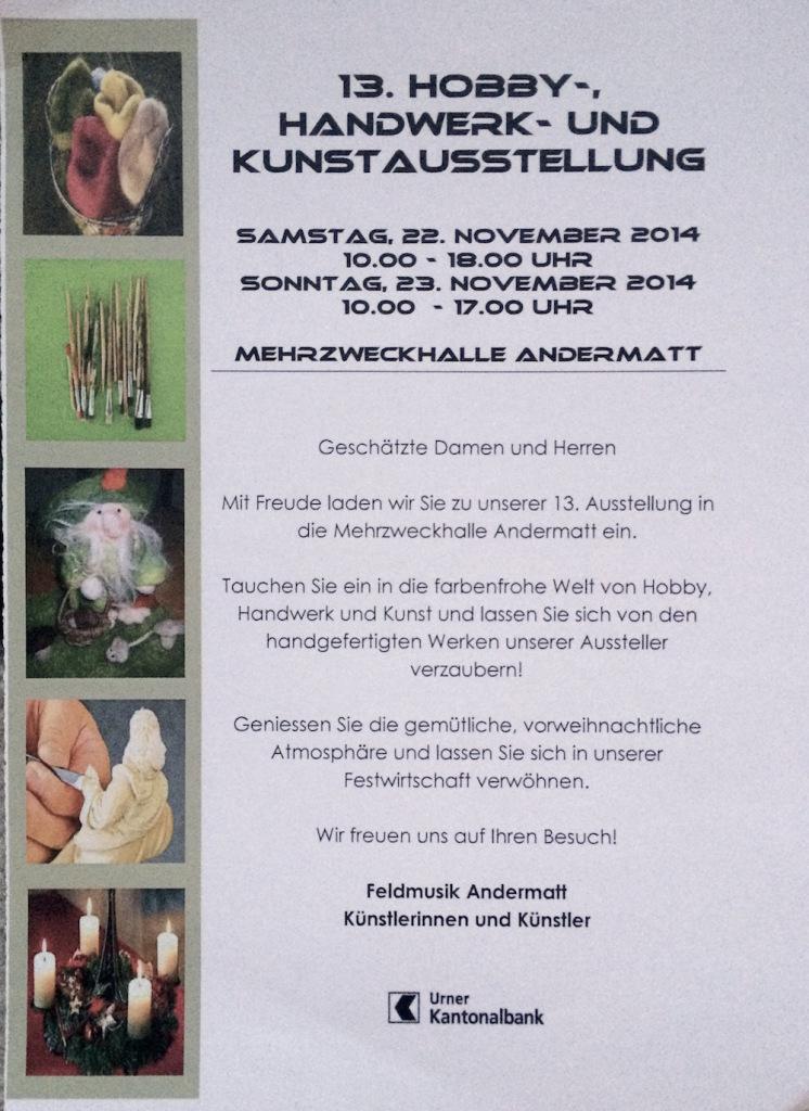 13. Hobby-, Handwerk- und Kunstausstellung @ Andermatt | Uri | Schweiz