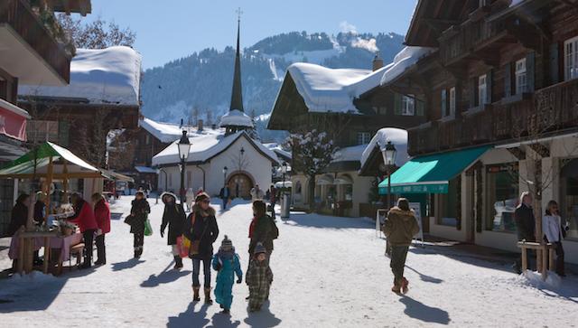 Autofrei Promenade in Gstaad